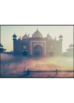 Taj Mahal In Fog