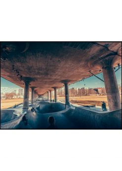 Skating Under Bridge