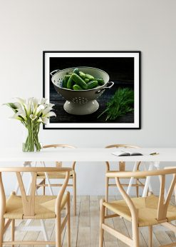Colander With Cucumber And Dill