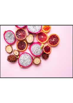 Mixed Fruit On Pink