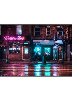 Walking Past Bar by Night
