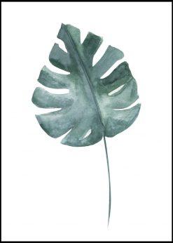 Single Green Leaf Painting