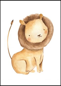 Cute Lion Painting