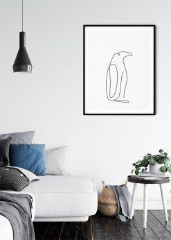 Penguin Pencil Sketch