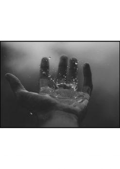Drops On Human Hand