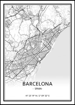 Map of Barcelona nr.1