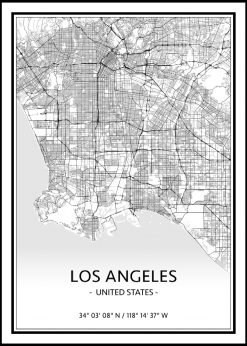 Map of Los Angeles nr.1