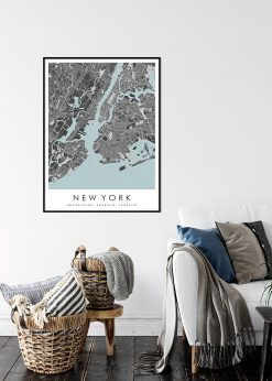 Map of New York nr.2