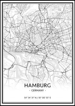 Map of Hamburg nr.1