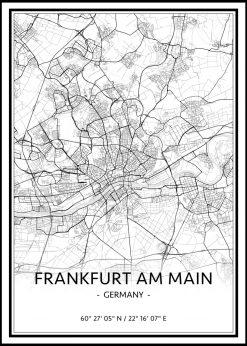 Map of Frankfurt Am Main nr.1