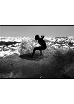 Surfer in Backlight