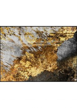 Gold on Stone Surface