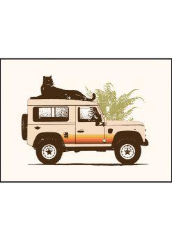 Black Panther on Car by Florent Bodart