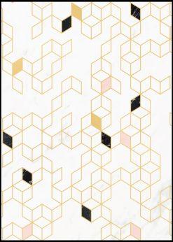 Keziah Gold Print by Florent Bodart