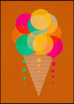 Neon Ice Cream by treechild