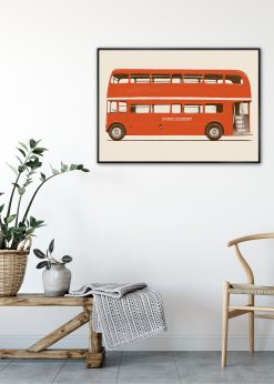 Red English Bus by Florent Bodart