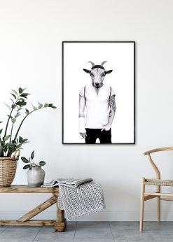 Hipster Goat by Sanna Wieslander