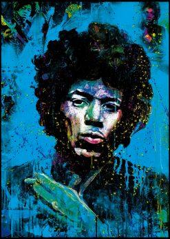 Jimi Hendrix Blue by Didier Chastan