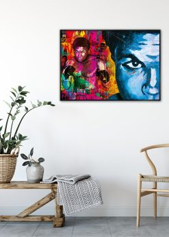 Muhammad Ali Blue by Didier Chastan