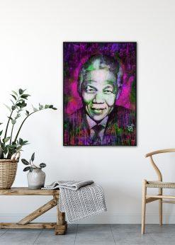 Nelson Mandela Purple by Didier Chastan