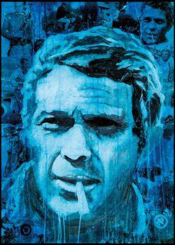 Steve McQueen Blue by Didier Chastan