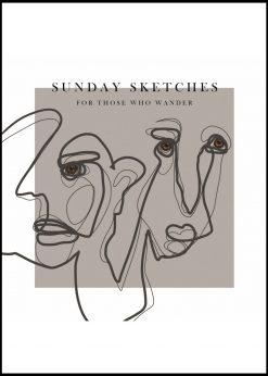 Sunday Sketches by Gabriella Roberg