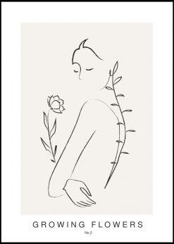 Growing Flowers No. 2 by Linnea Nygren
