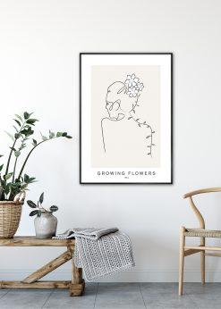 Growing Flowers No. 4 by Linnea Nygren